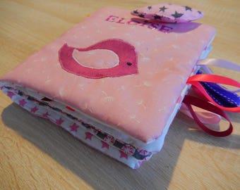 Custom made fabric quiet activity book