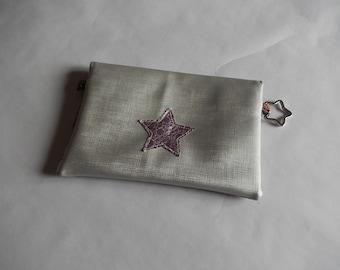 Pour avoir un sac bien rangé, pochette bi-matière imitation cuir personnalisable