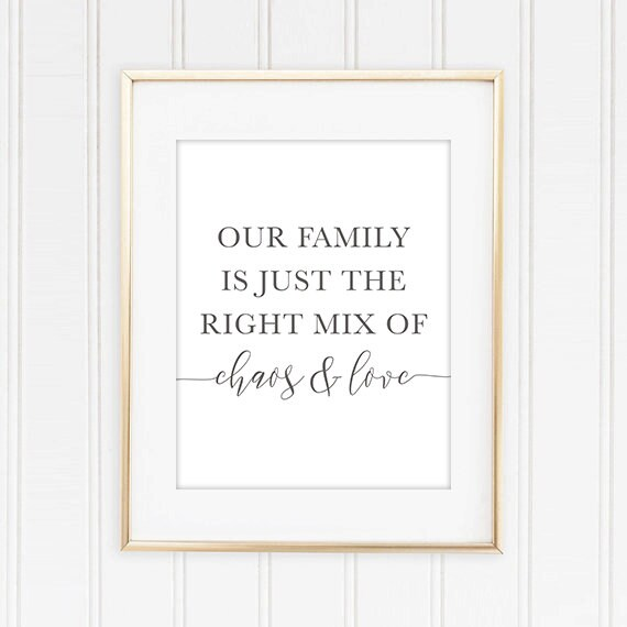 photo about Farmhouse Printable titled Farmhouse Printable, Our Loved ones is Simply the Specifically Mixture of Chaos and Get pleasure from Quotation Printable, Family members Quotation Print, Spouse and children Quotation Printable Wall artwork