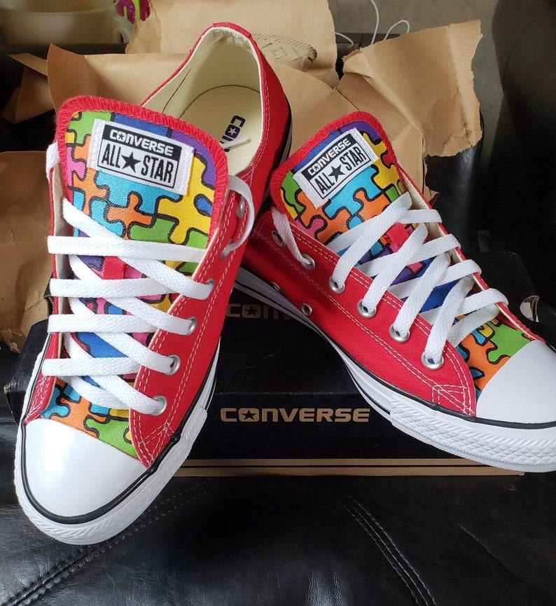 1a252e1555c7e7 Autism Awareness Shoes Childs Size