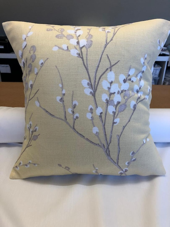"""16/"""" Laura Ashley /'Pussy Willow Floral/' Grape cushion cover"""