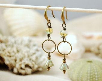 Cascade long flower earrings, romantic nights bridal earrings