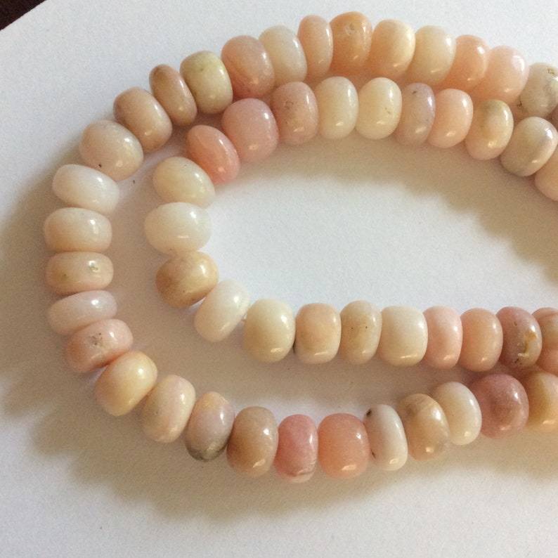 Imported Pink Opal Pink Opal Rondelle Beads Pink Opal Beads Opal Pink