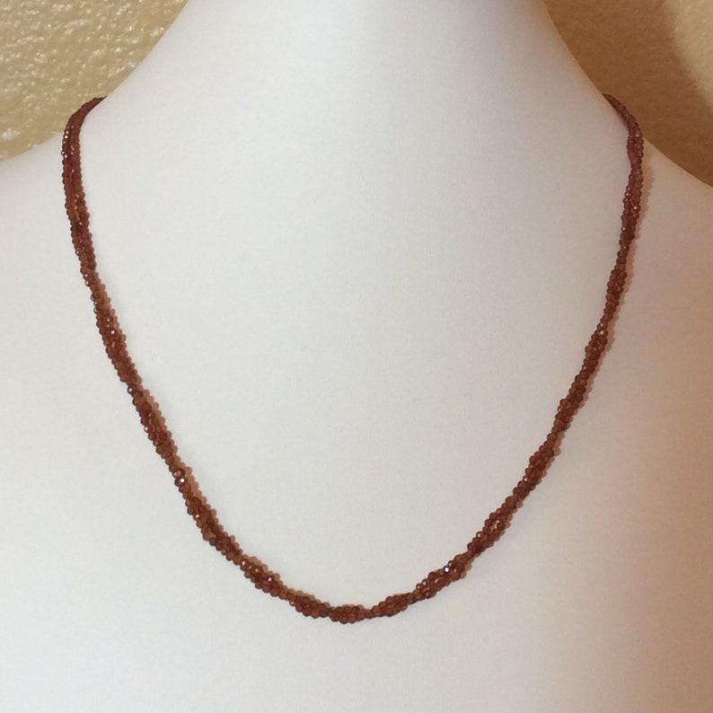 Spessartite and Citrine Gem Necklace