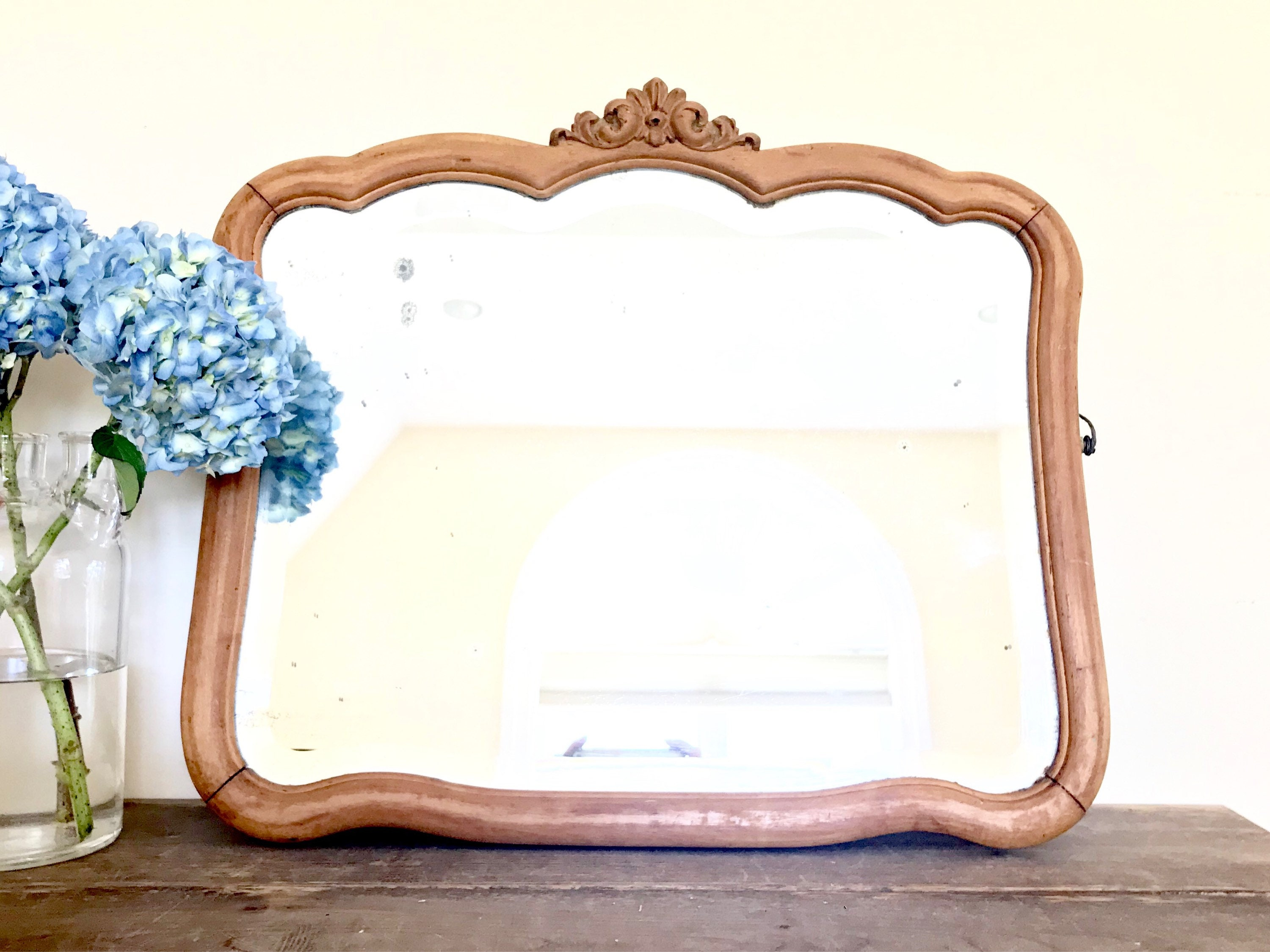 For Michelle Antique Beveled Glass Mirror Colonial Mirror With