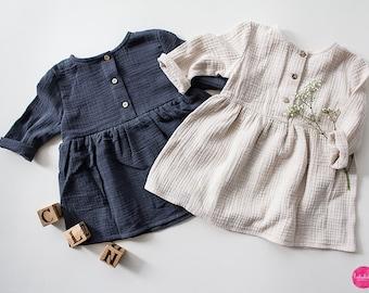 Baby Girl Dress Muslin Dress (Organic Cotton)