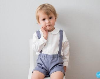 Baby Jungen kurze Hose Kinder Shorts mit Trägern Trägerhose Baby Shorts mit  Hosenträgern 5c39b81387