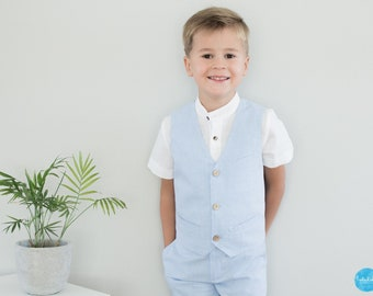 Weste Kleinkind Jungen Anzug Ringträger Outfit Anzug Taufanzug Taufe  Hochzeit Blumenkinder e1cc3c8316