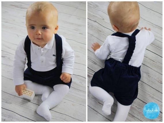 Baby Jungen kurze Hose Trägerhose Taufanzug Jungen Baby Taufe   Etsy 646c94f9e6