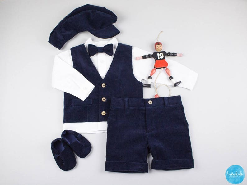 8004d576d94 3 piece outfit  Blue shorts shorts white linen shirt