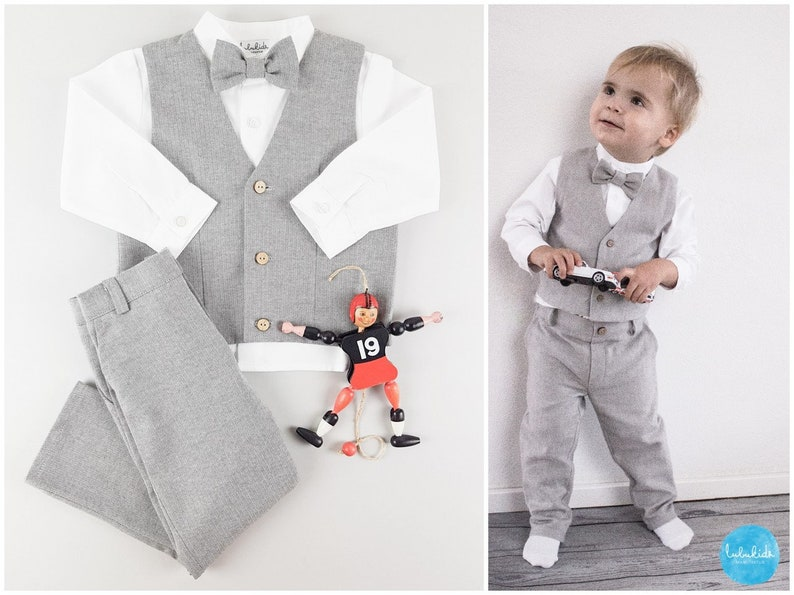 af5ef52e9cf5 Ringbearer suit page boy suit wedding party outfit baby boy