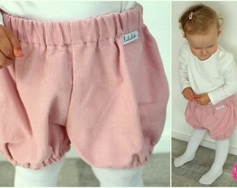 pale pink cordoroy shorts bloomers pants baby bloomers cotton baby shower pink shorts baby shorts pants