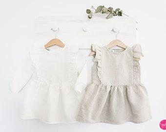 Baby Girl Linen Dress with Ruffles (Organic)