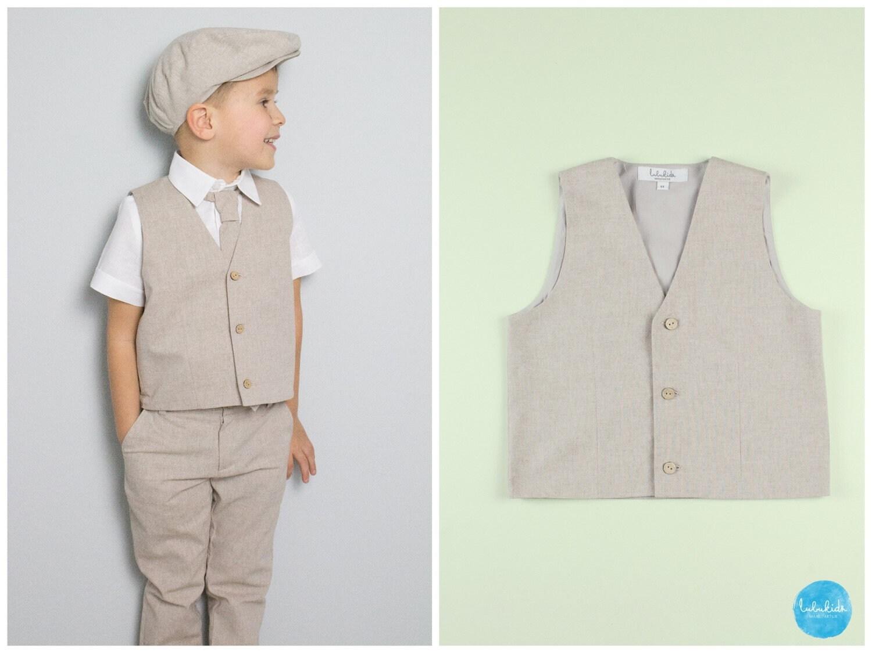 Baby Jungen Kleinkind Weste Anzug Ringträger Outfit Anzug   Etsy 50c86040e9