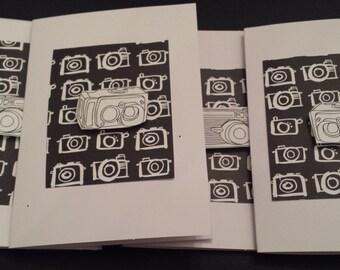 Camera Fever Cards (set of 4) Black and White/Unique/Photographer/Retro