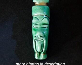 Vintage Fu Man Chu Ceramic Pin