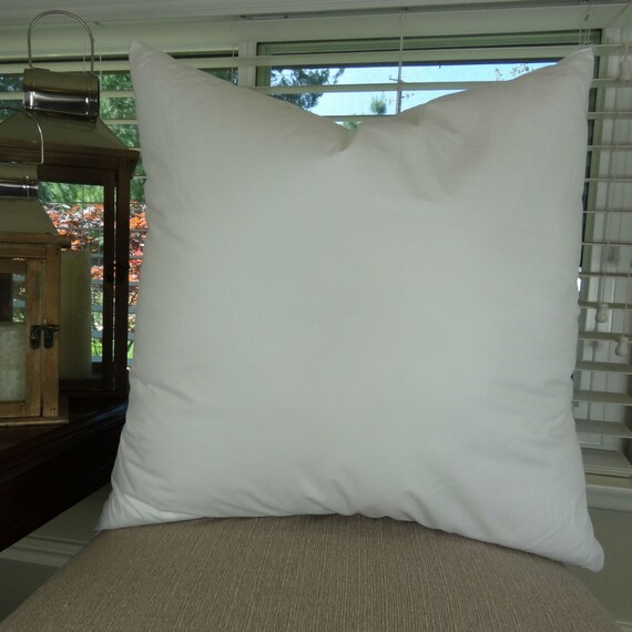 22x22 Pillow Insert Made In Usa Hypoallergenic Down Etsy