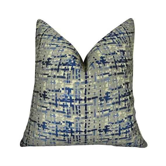 Blue Pillow Blue Designer Pillow Cover Blue Decorative Etsy Inspiration Blue Decorative Pillows Modern
