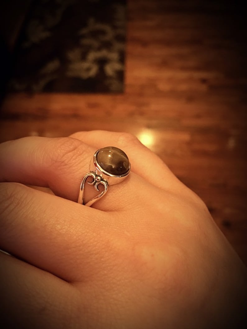 Sterling Silver Petoskey Stone Ring