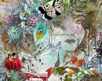 MEGA Digital Scrapbook Kit {Artistic Impressions Part 1} Photoshop Overlays~Artistiry~Artistic~Digital Art~Vintage Woman~People~Creative~PNG