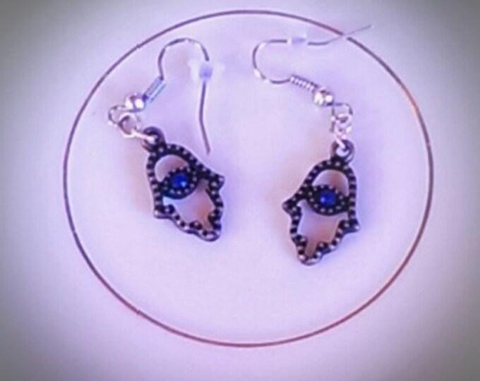 Avoid The Evil Eye With Divine Blue Eye Hamsa Protection Earrings