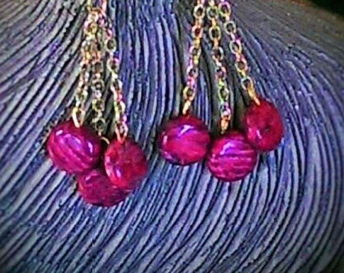 Dragon's Blood Stone Dangle Earrings