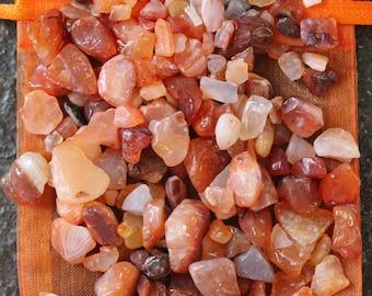 Carnelian Chip Stones, Tumbled Carnelian, Chakra Stones, Jewelry and Crafts