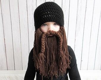 Biker Beard Hat, Custom Beard Crochet Hat, Baby beard hat