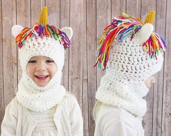Unicorn Hat and Scarf Combo Set e25e9f3e8c9