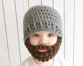 67385841688 Custom Beard Crochet Hat