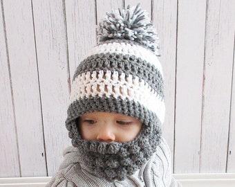 d79efe16af8 Custom Beard Pompom Crochet Hat