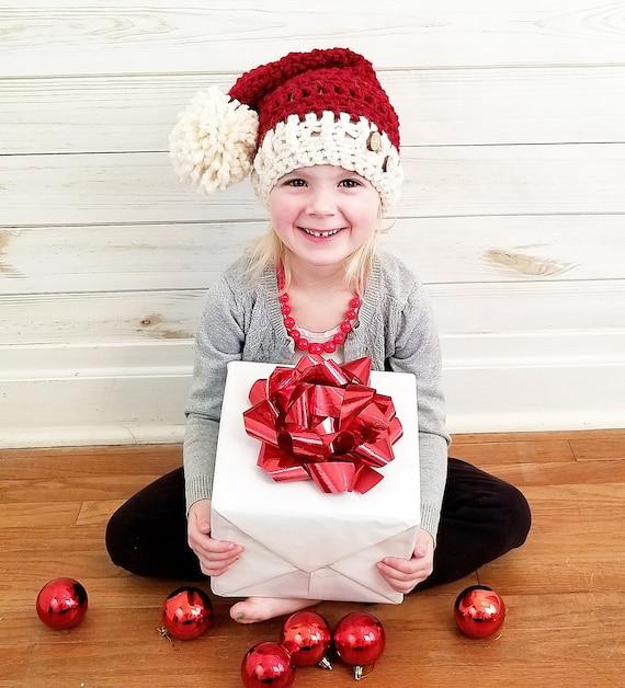 Crochet Christmas Hats Adults.Rustic Santa Hat Crochet Christmas Hat Preemie To Adult Sizes