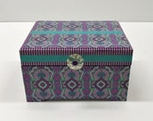 Girl 39 s Jewelry Box, Purple Turquoise Jewelry Box, Teenager Jewelry Box, Preteen Gift, Purple Jewelry Box, Purple Turquoise Accent Decor