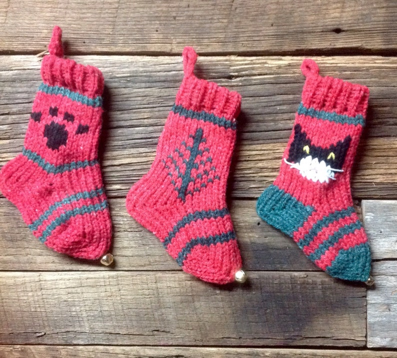 group of 3 New For 2018 Tiny Stockings Black Cat