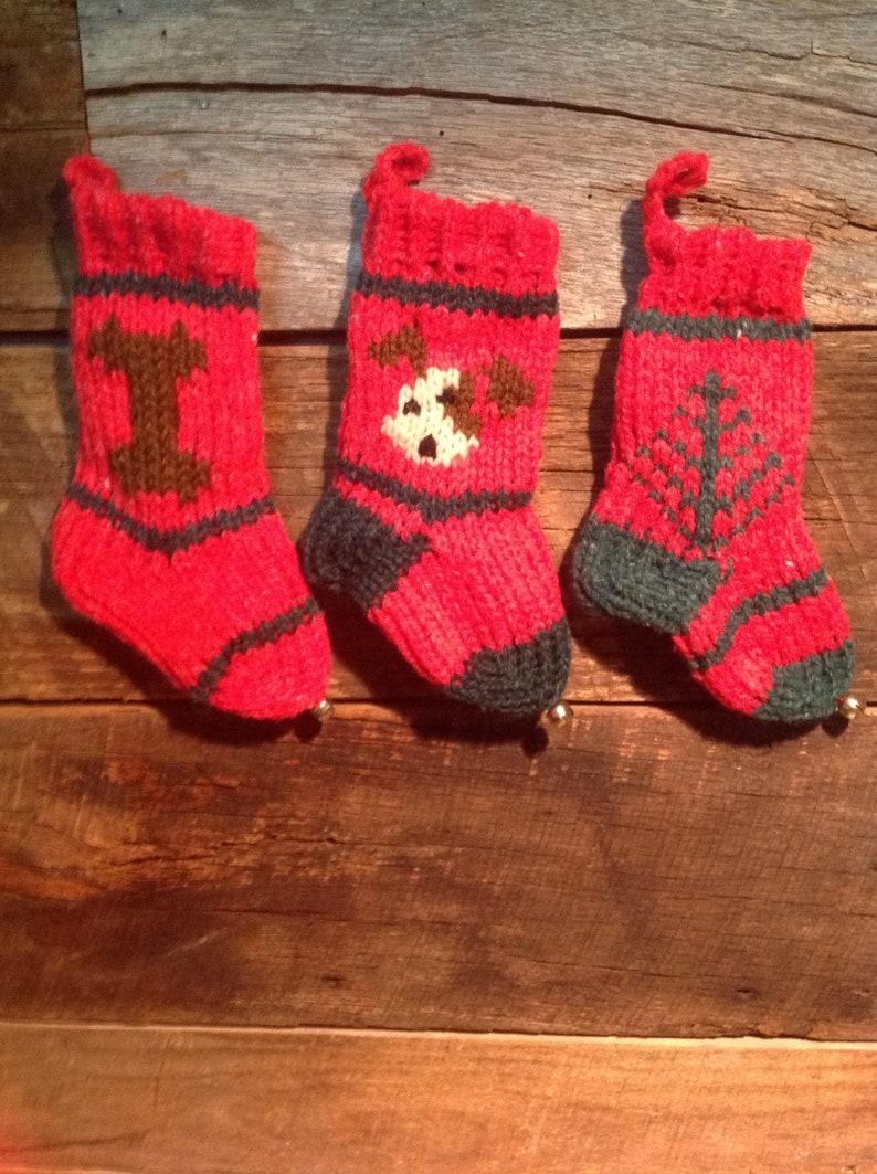 group of 3 dog Tiny Christmas Stockings