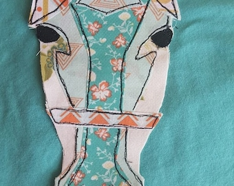 Horse Face FMA Free Motion Applique, free stitch applique pdf design to add to clothing, bags, pillows, etc...