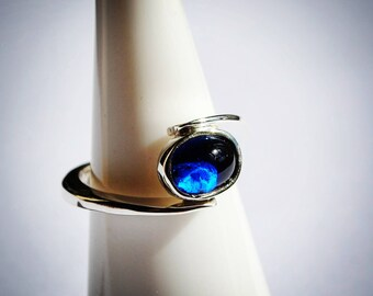 Sterling Silver Blue Spinel Ring