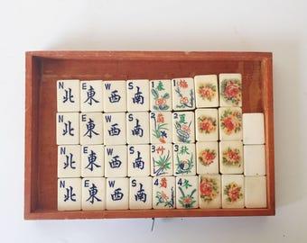 Vintage Mah Jongg Set - Vintage Mahjong Game - Mah Jong Set Complete - Mahjongg Set
