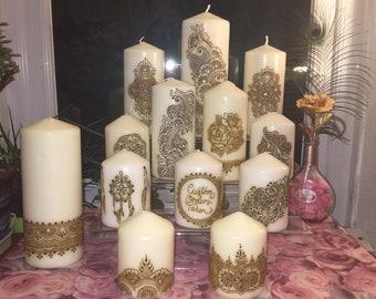 Henna Candles Etsy