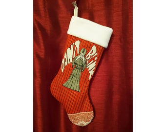 Doctor Who Inspired Quilted Christmas Stocking - Weeping Angels