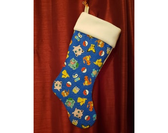 Pokemon Inspired Christmas Stocking