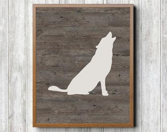 Wolf Printable 8 x 10