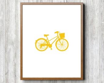 Yellow Bike 8 x 10 Printable