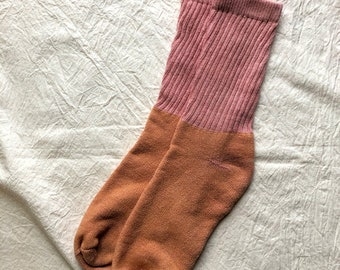 Botanical Dye Organic Cotton Socks Citrus Multi