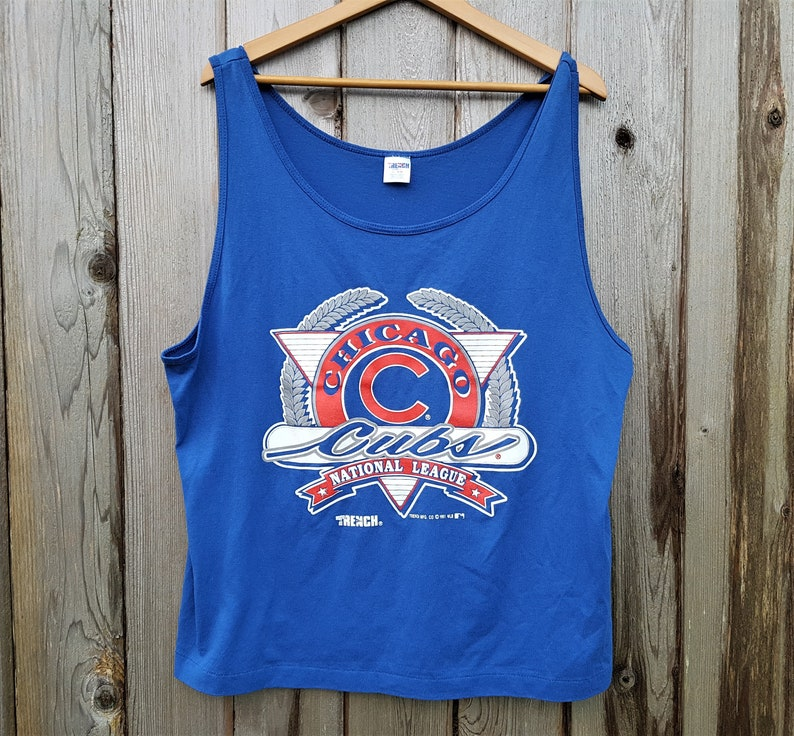 d475667c3a3634 Chicago Cubs Vintage 90s Official MLB Tank Top Trench Brand
