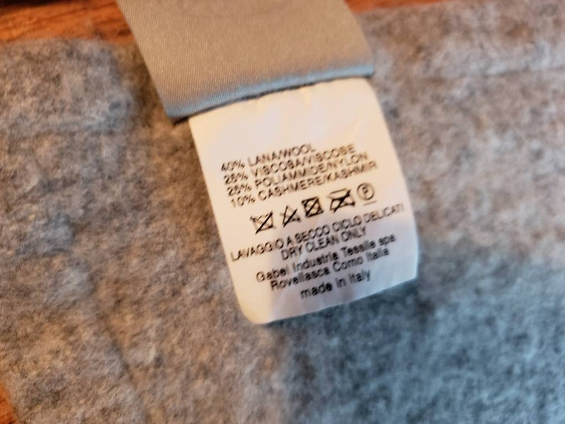 1867 SOMMA Luxury Cashmere Lambswool Blend Blanket Heather Grey 60x 78 Super Soft throw  made in ITALY