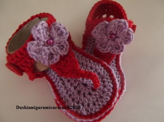 Nederlands Haakpatroon Baby Flip Flop Met Bloem Etsy