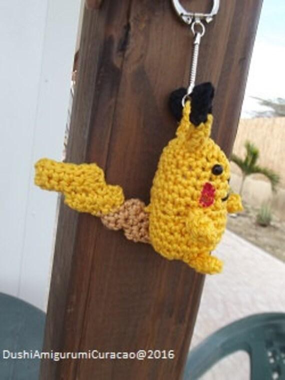 Nederlands Haakpatroon Pikachu Sleutelhanger Etsy