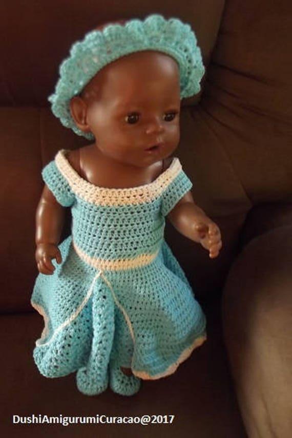 Nederlands Haakpatroon Prinsessenjurk Voor Baby Born 43cm Etsy