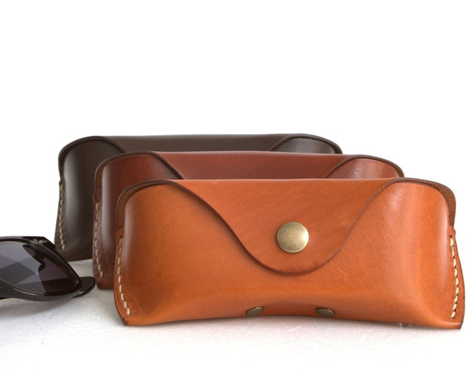 Glasses case  for Wayfarer Vegetable tanned leather